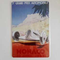 plaque metal vintage grand prix de monaco