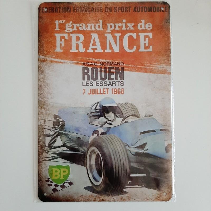 plaque metal vintage grand prix de France