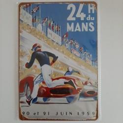 plaque metal vintage 24h du Mans