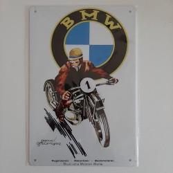 plaque métal de décoration vintage bmw moto