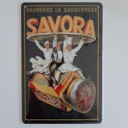 plaque métal de décoration vintage savora