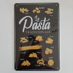 plaque métal de décoration vintage la pasta tradizionale