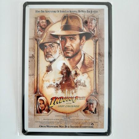 plaque métal de décoration vintage cinema indiana jones
