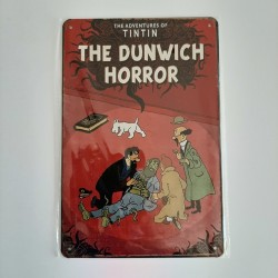 plaque metal vintage tintin the dunwich horror