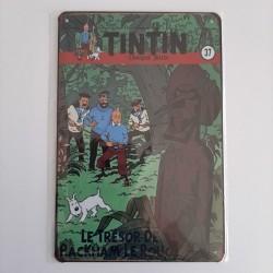plaque metal vintage tintin le tresor de rakham le rouge