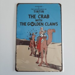 plaque metal vintage tintin the crab with the golden claws