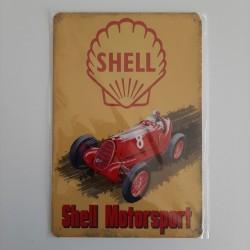 plaque metal vintage garage shell motorsport