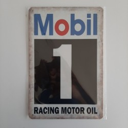 plaque metal vintage garage mobil 1