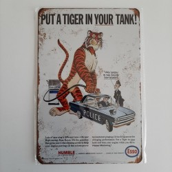 plaque metal vintage garage esso put a tiger in your tank