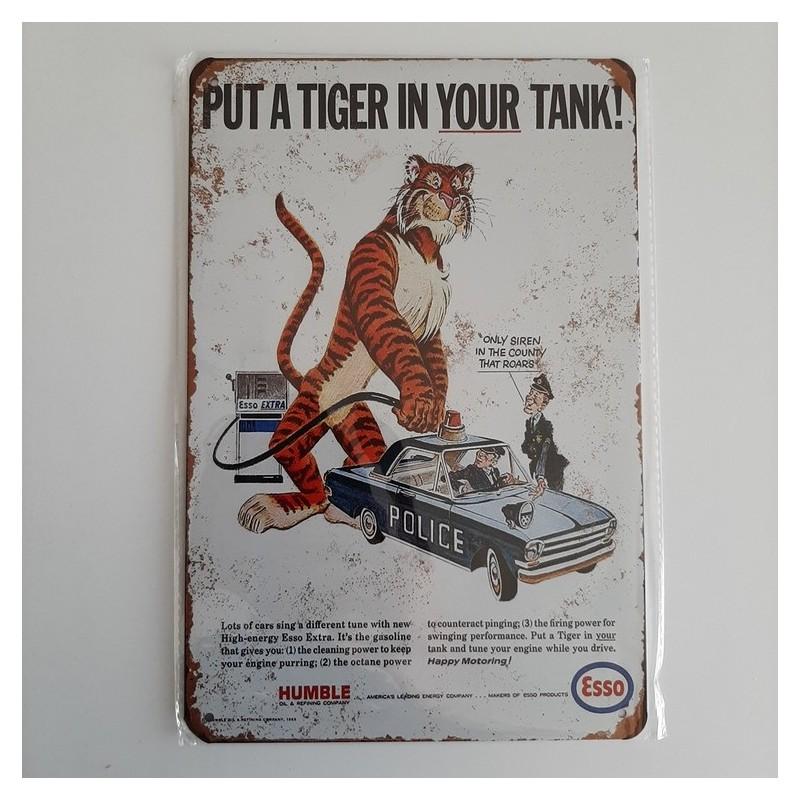 plaque metal vintage garage esso put a tiger in your tank