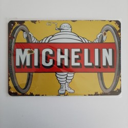 plaque metal vintage garage michelin