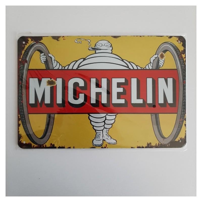 plaque metal vintage garage michelin