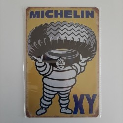 plaque metal vintage garage michelin XY