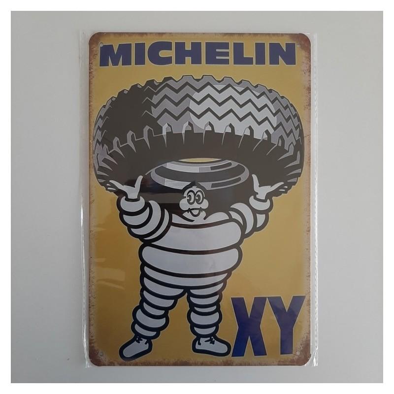 plaque metal vintage garage michelin XY