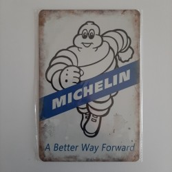 plaque metal vintage garage michelin a better way forward