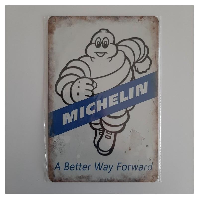 plaque metal vintage garage michelin a better way forward