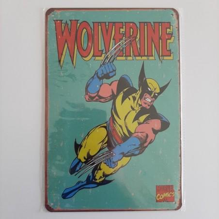 plaque publicitaire en métal de décoration vintage wolverine