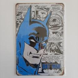 plaque publicitaire en métal de décoration vintage batman BD