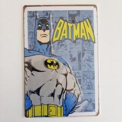 plaque publicitaire en métal de décoration vintage batman