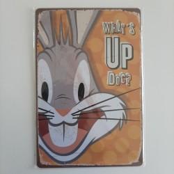 plaque publicitaire en métal de décoration vintage bunny