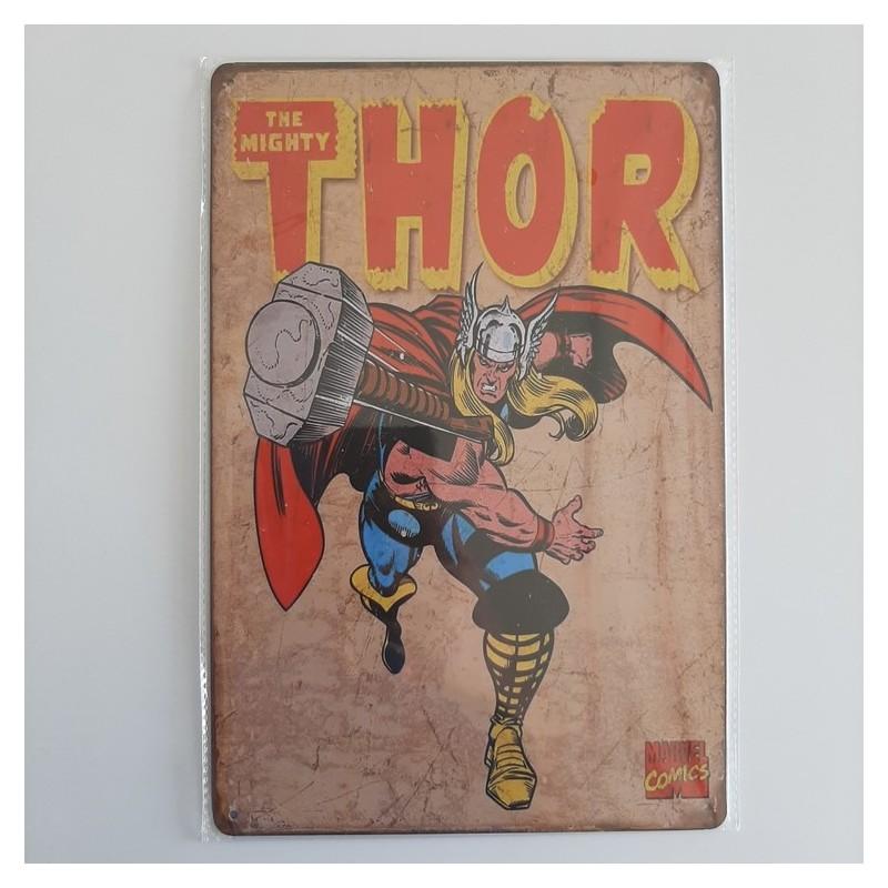 plaque publicitaire en métal de décoration vintage thor