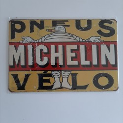 plaque metal vintage garage michelin pneus vélo