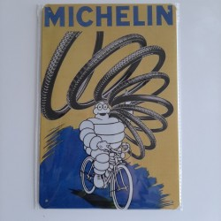 plaque metal vintage garage michelin vélo