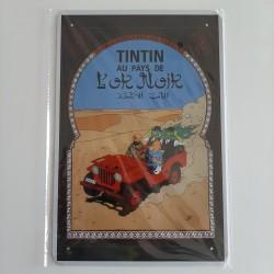 plaque métal vintage Tintin au pays de l'or noir