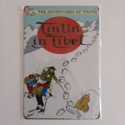 plaque metal vintage tintin in Tibet