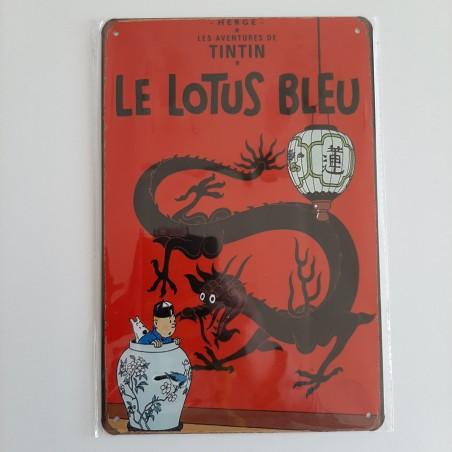 plaque metal vintage tintin le lotus bleu
