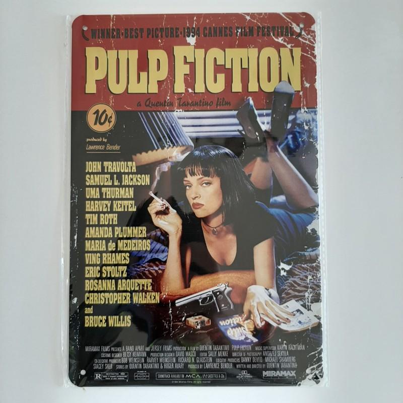 plaque métal décoration vintage cinéma pulp fiction