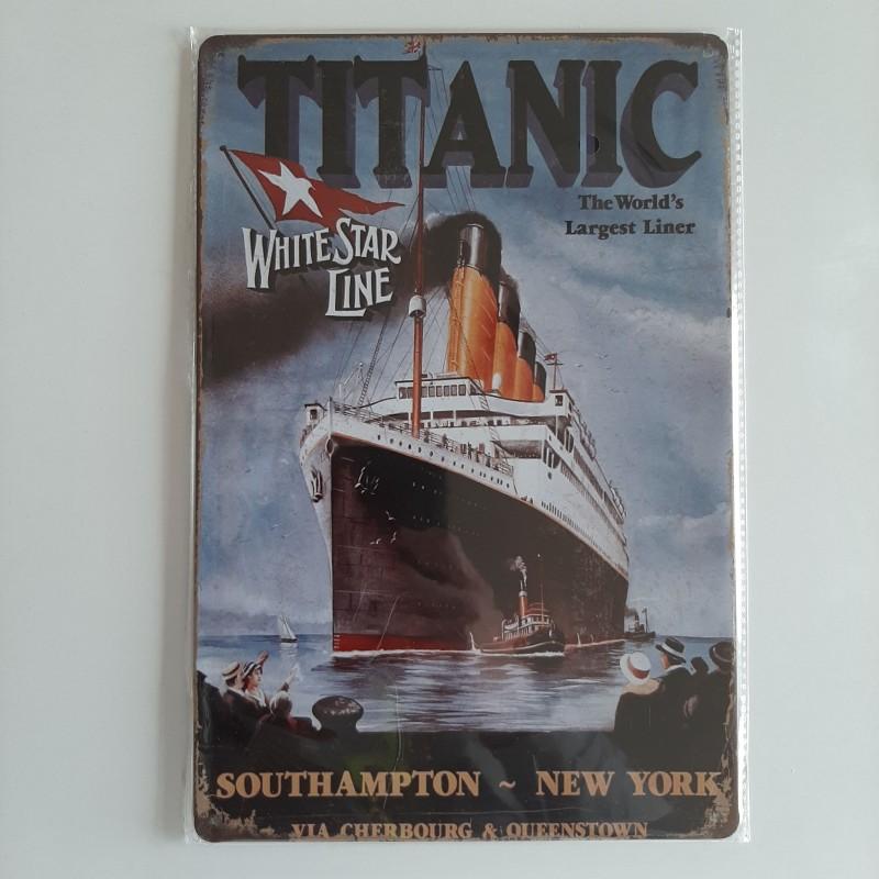 plaque métal décoration vintage cinéma titanic