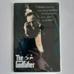 plaque métal décoration vintage cinéma godfather