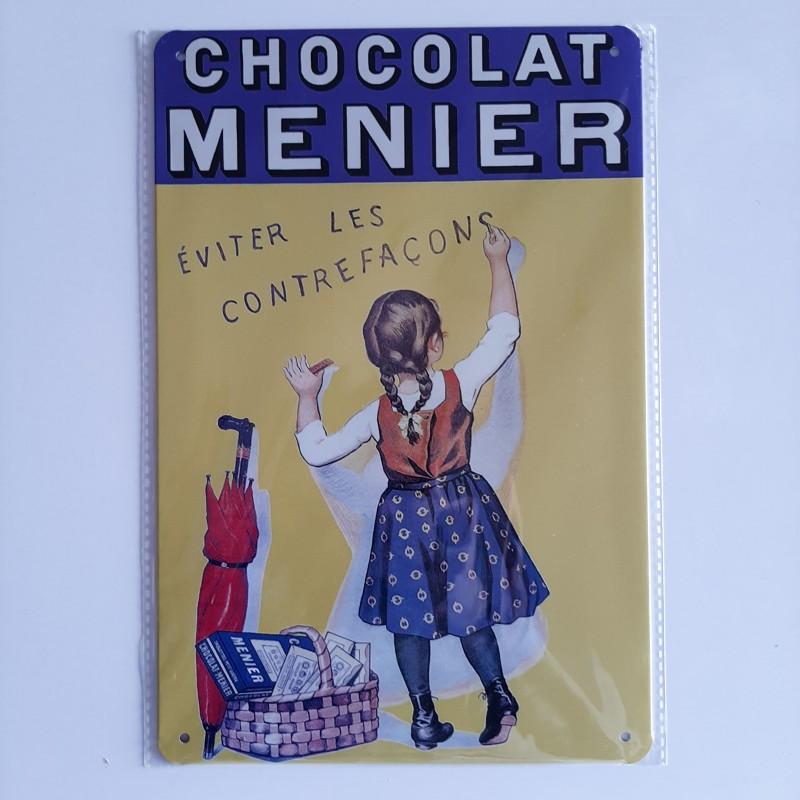 plaque métal décoration vintage publicitaire chocolat meunier