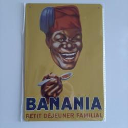 plaque métal décoration vintage publicitaire Banania