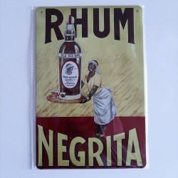 plaque métal décoration vintage Bar Rhum Negrita