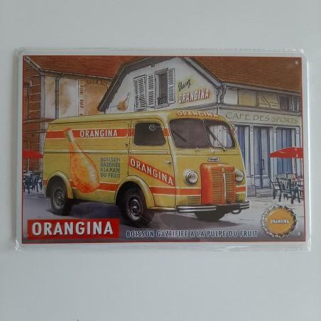 plaque métal décoration vintage Bar Orangina