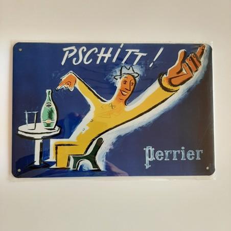 plaque métal décoration vintage Bar Perrier
