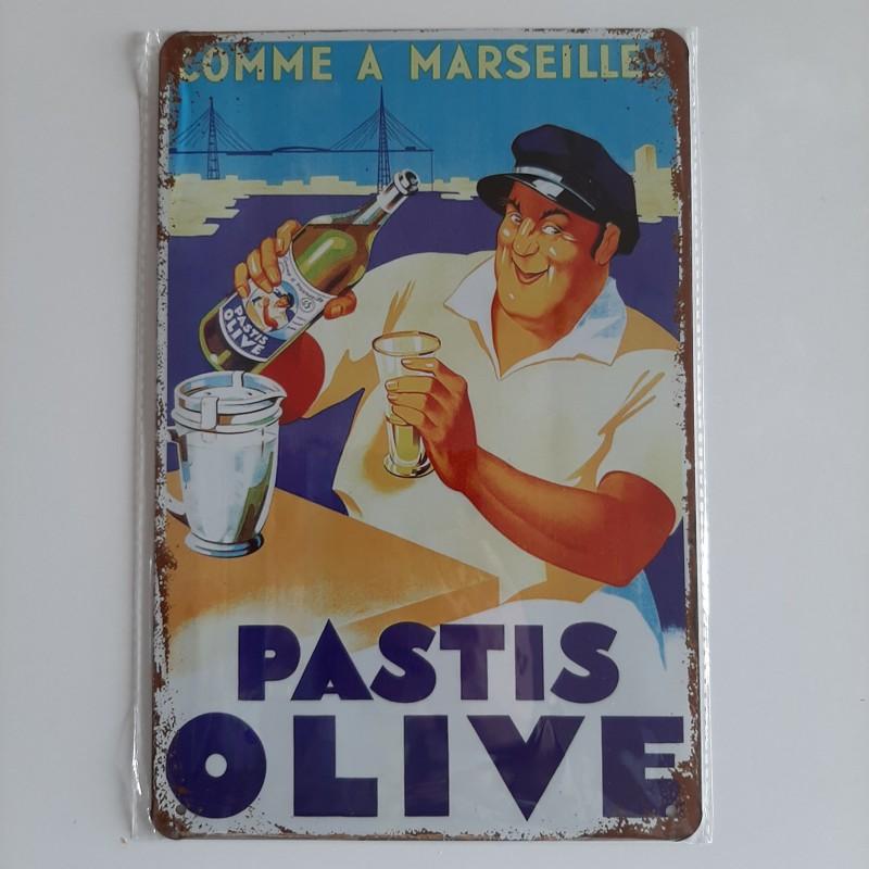 plaque métal décoration vintage Bar Pastis