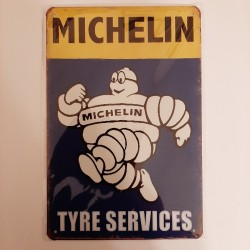 plaque metal decoration vintage michelin