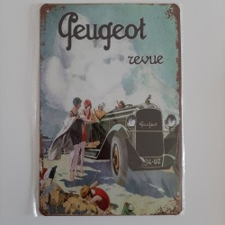plaque metal vintage garage peugeot