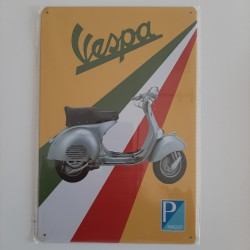 plaque metal vintage garage vespa
