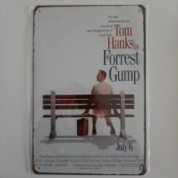 plaque métal vintage cinéma forrest gump