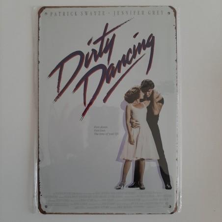 plaque métal vintage cinéma dirty dancing
