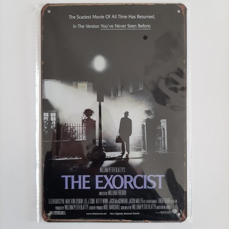 plaque métal vintage cinéma the exorcist