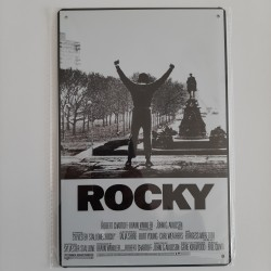 plaque métal vintage cinéma rocky