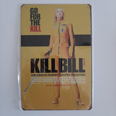 plaque métal vintage cinéma kill bill