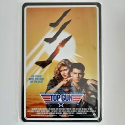 plaque métal vintage cinéma top gun