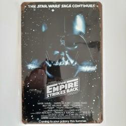 plaque métal vintage cinéma star wars