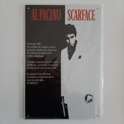 plaque métal vintage cinéma scarface